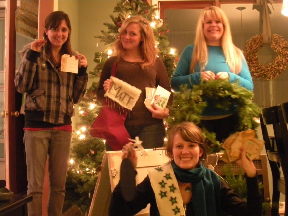 Emily, Me, Brittney and Jenna - Craft day!