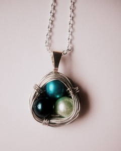 Birthstone Bids Nest Necklace