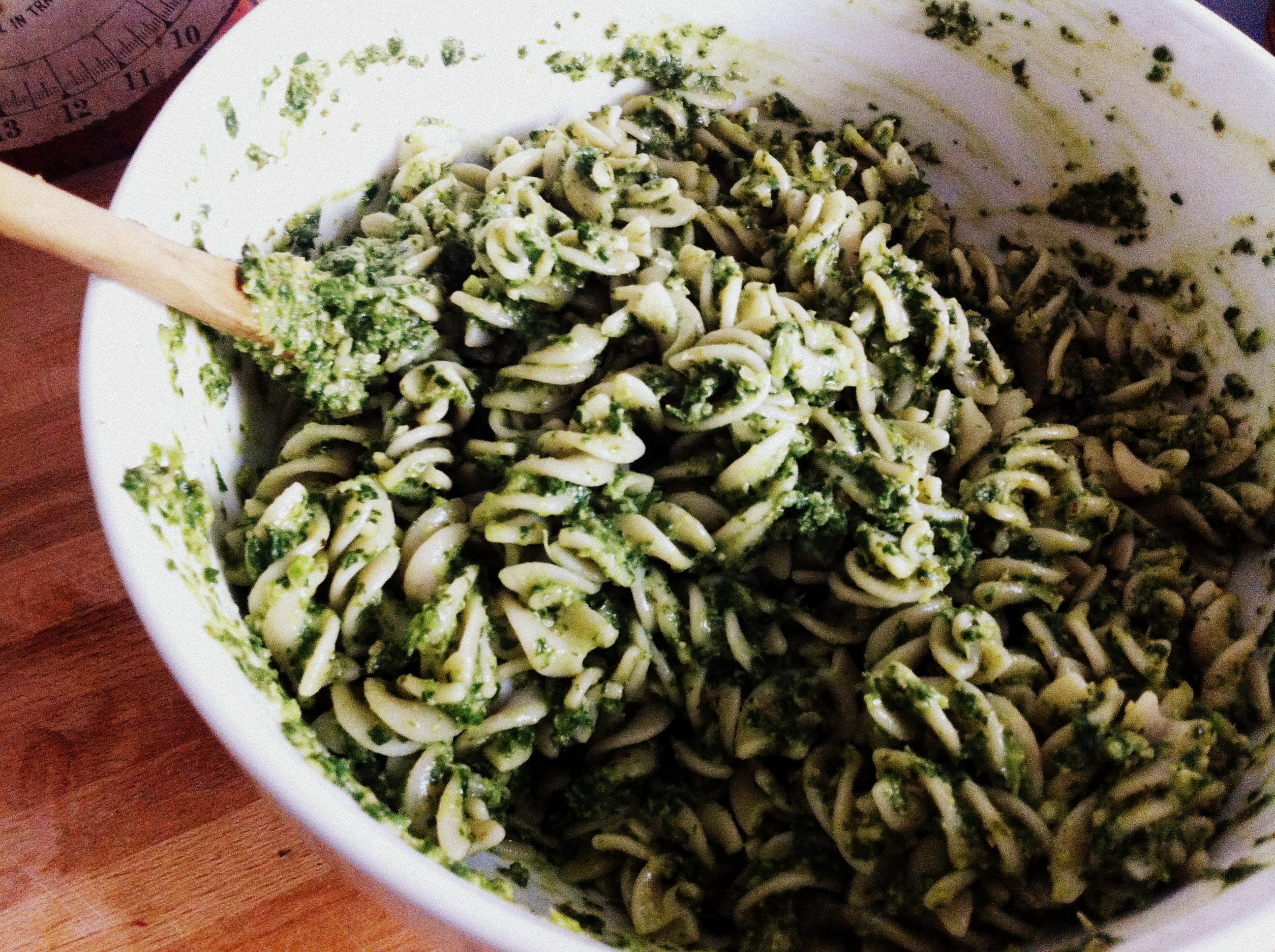 Kale Pesto Pasta (Vegan) | Homespun Haley.