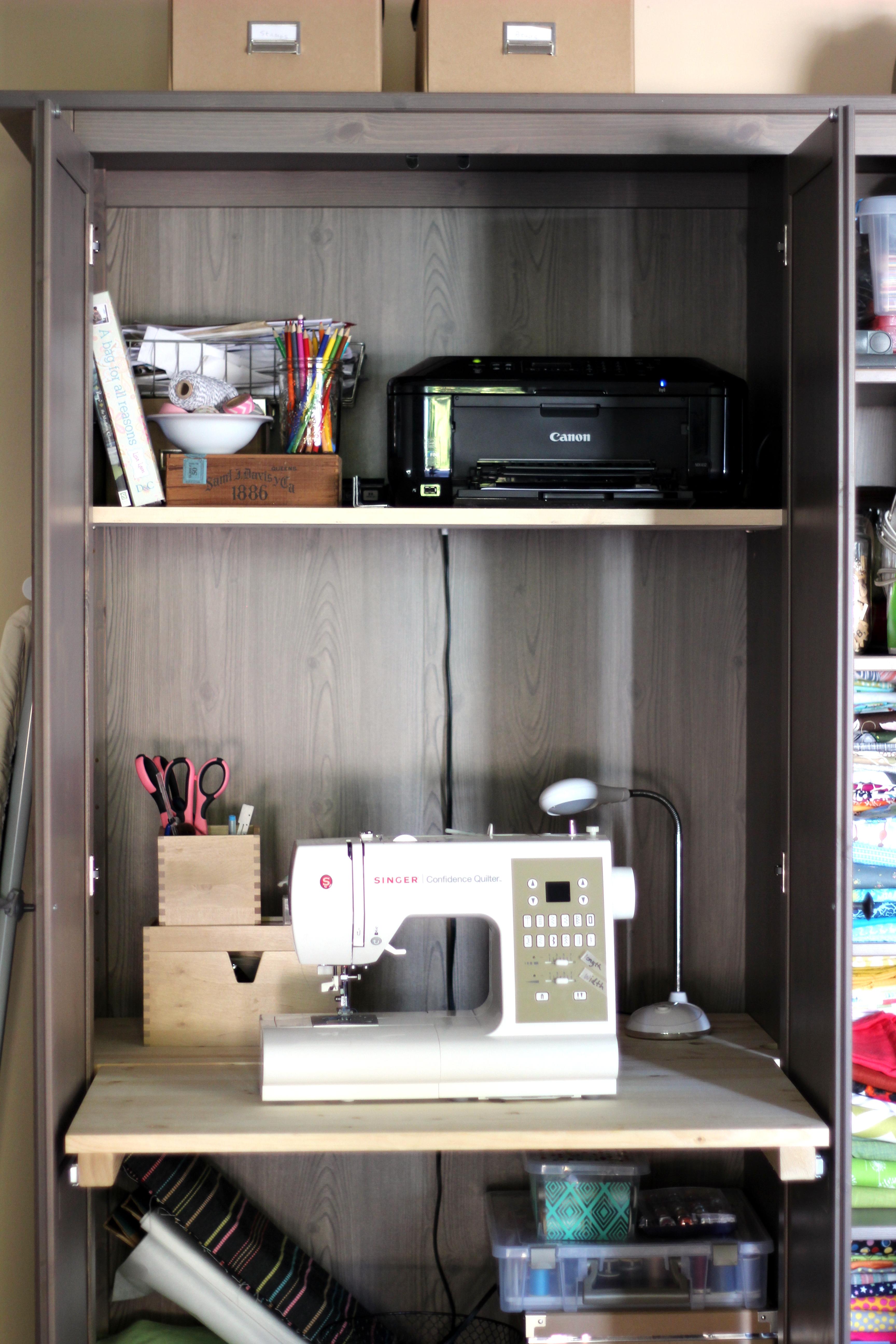 Ikea Hack Wardrobe To Sewing Room Homespun Haley